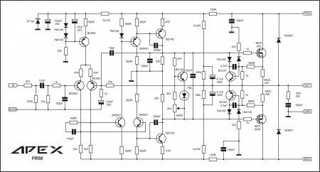 APEX FR50 amplifier schematic