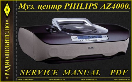 Service Manual Philips AZ4000 with schematic