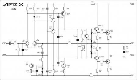 APEX NX12-fmplifier schematic