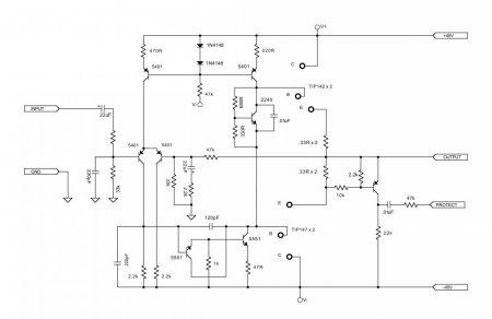 APEX AX12 _100W4R HI-FI_принципиальная схема