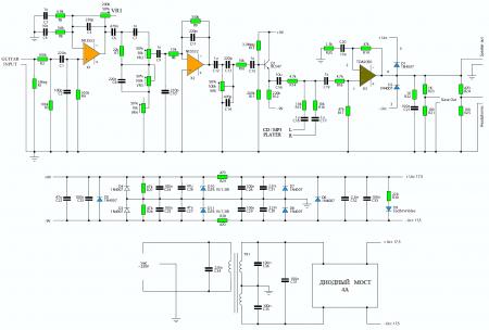 Guitar Amplifier TDA2050-schematic diagram