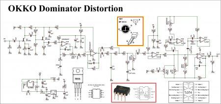 schematic OKKO Dominator Distortion