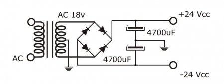 TDA2050 Amp PSU Schematic