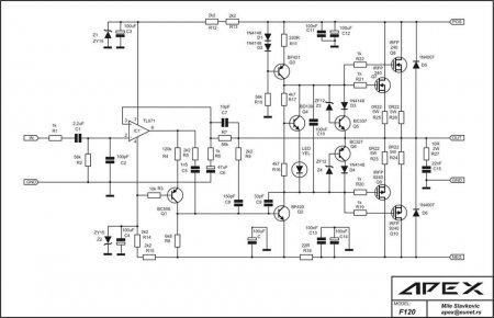 APEX F120 Amplifier schematic