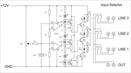 Apex 3ch input selector schematic