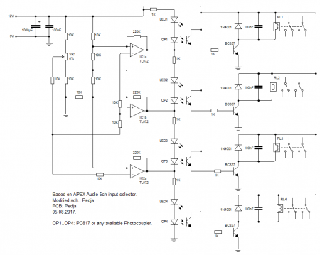 APEX 4ch Input Select schematic