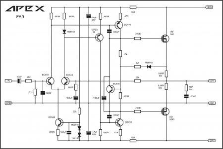 Amplifier APEX FA9 Schematic