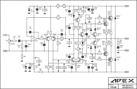 APEX FX100 amplifier schematic