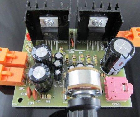 TDA2030 AMP плата в сборе_1