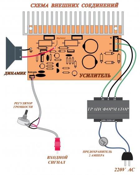 100W Amplifier _ схема соединений