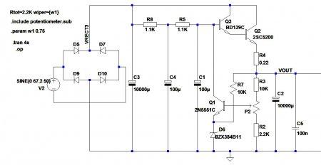 Single Regulated psu-2 schematic