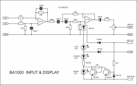 APEX BA1000 Input & Display Schematic