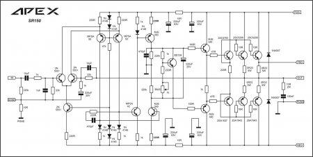 APEX SR150 amplifier schematic