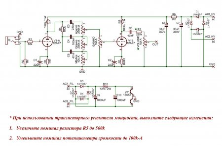 Fender Twin Preamplifier Schematic