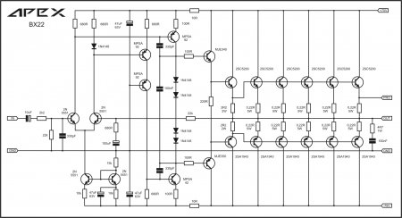 APEX BX22 amplifier schematic