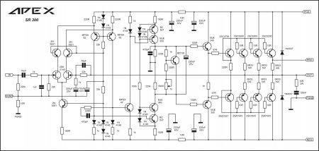 APEX SR300 Amplifier schematic