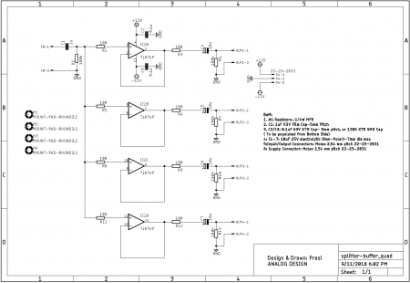 Audio Splitter Quadro Output Schematic