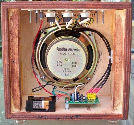 1W Amplifier with 3 Input Mixer внутренности