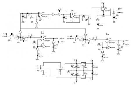 УНЧ 2.1 на TDA2030_аналогичная принципиальная схема