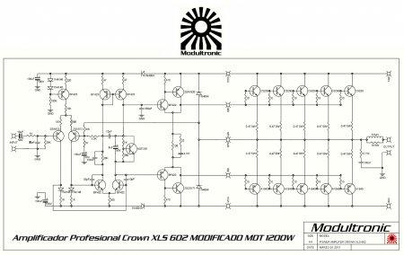Усилитель CROWN XLS 602 Mod Schematic