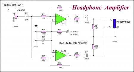 schematic phones amp HotLine 2