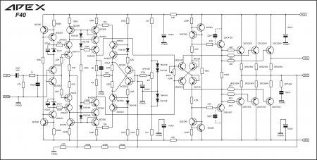 APEX F40 Amplifier Schematic