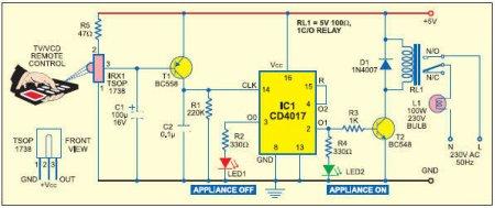 Схема IR приемника на NE555