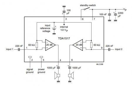 TDA1517P Amplifier Schematic