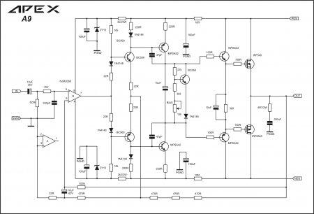 APEX A9 amplifier schematic