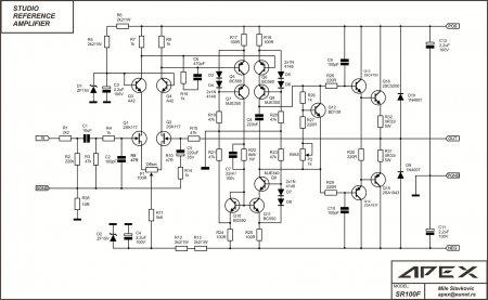 Apex SR100F amplifier (final schematic)