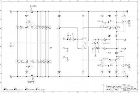 Sapphire 4.1z Headphone Amplifier Schematic