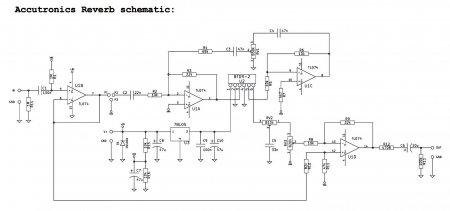 Accutronics Reverberator schematic