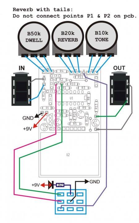 Accutronics Reverberator внешние соединения
