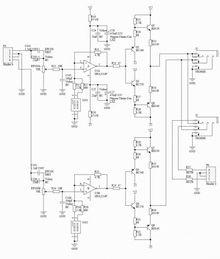 Headphone Amplifier Lehmann Audio Black Cube Schematic