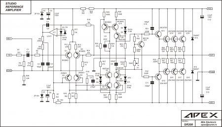 APEX SR200V2 Amplifier Schematic