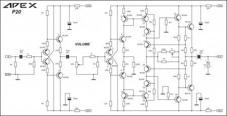 APEX P20 Preamplifier Schematic
