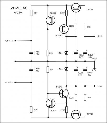 APEX +-24V PSU Schematic