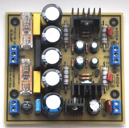 APEX PSU 2x24V for Headphone Amplifier_плата в сборе сторона элементов