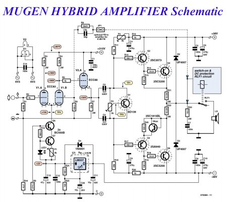 MUGEN HYBRID AMPLIFIER Schematic