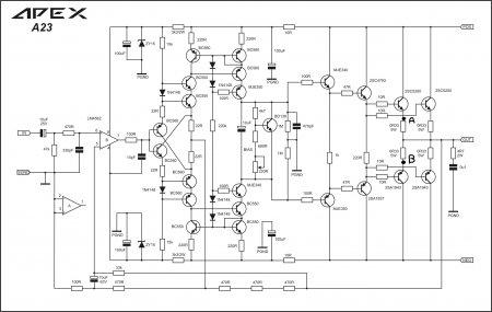 Apex A23 Amplifier Schematic