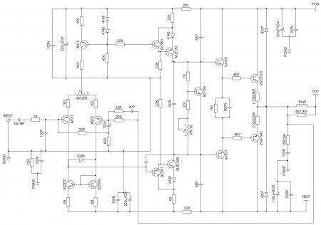 MOD APEX AX14 Amplifier Schematic