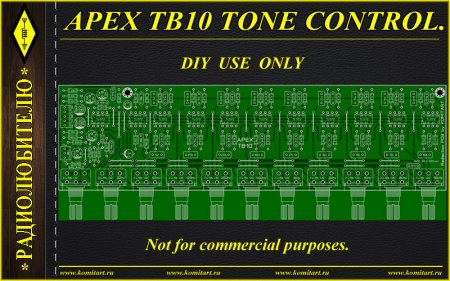 APEX TB10 TONE CONTROL KOMITART PROJECT