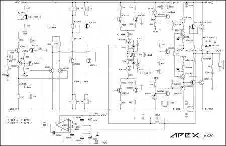 APEX AX30 AMP Schematic