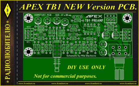 APEX TB1 NEW Version PCB_KOMITART Project