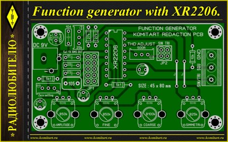 Function Generator with XR2206 KOMITART Project