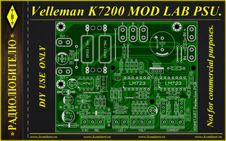 Velleman K7200 PSU MOD Version KOMITART