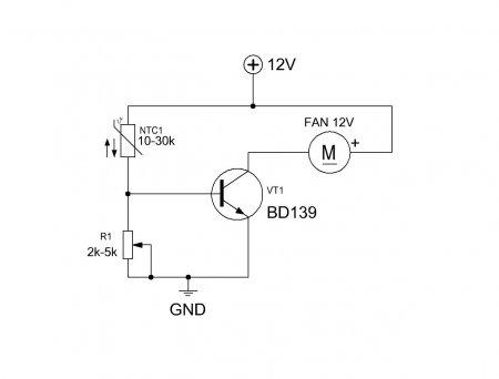 Схема управления вентилятором