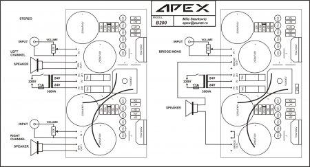 APEX B200 внешние соединения