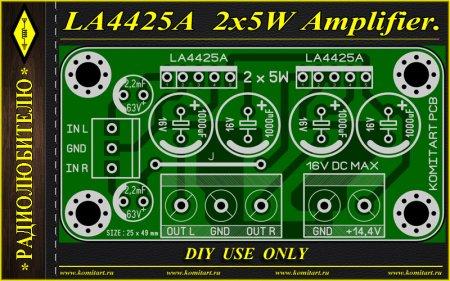 LA4425A AMPLIFIER KOMITART Project