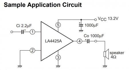 LA4425A Amplifier Schematic